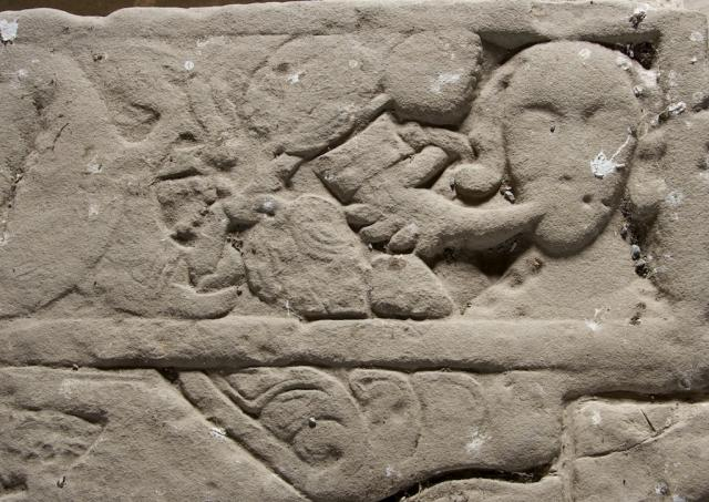 Tomb slab, Valle Crucis, Valley Crucis Abbey