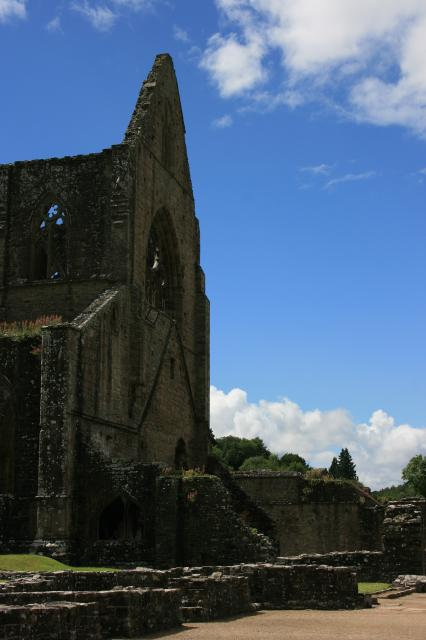 Tintern Abbey, north transept of church and site of the monks' dormitory