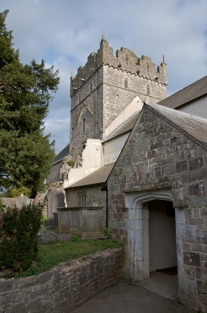 Porch and tower, Priory Church of St Michael, Ewenny