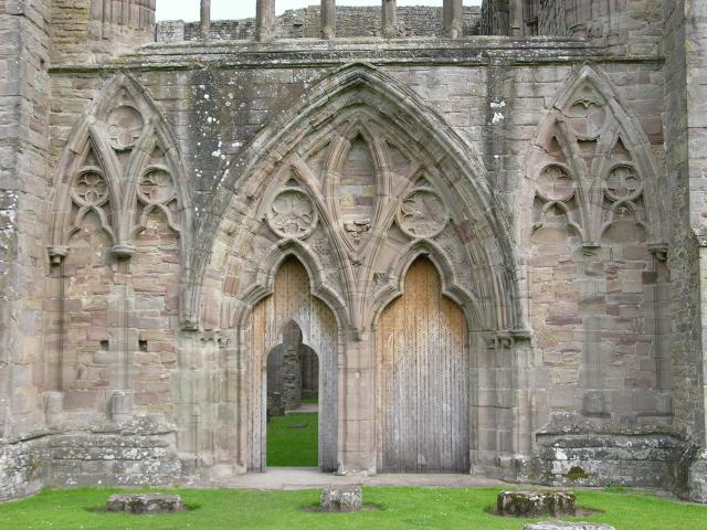 West processional doorway, abbey church of St Mary the Virgin, Tintern
