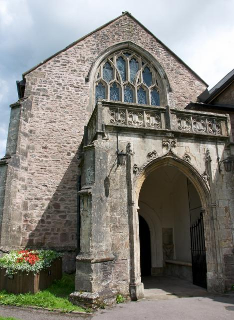 West porch of the priory church of St Mary, Usk