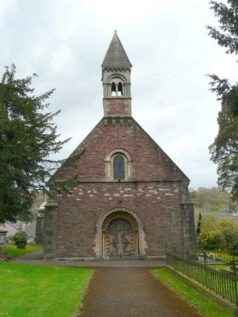 The reconstructed church at Malpas
