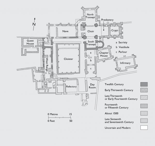 Groundplan of St Dogmaels, Cadw, Welsh Government (Crown Copyright)