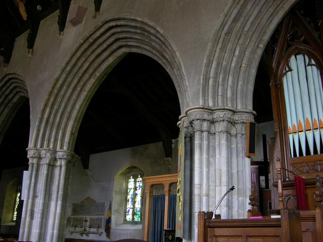 Nave Arcade from Abbey Cwmhir, Church of St Idloes, Llanidloes