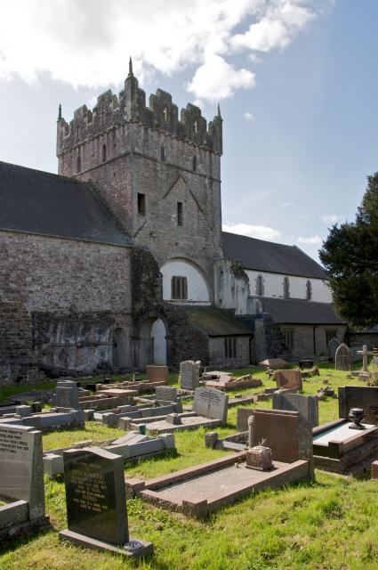 North side of the Priory Church of St Michael, Ewenny
