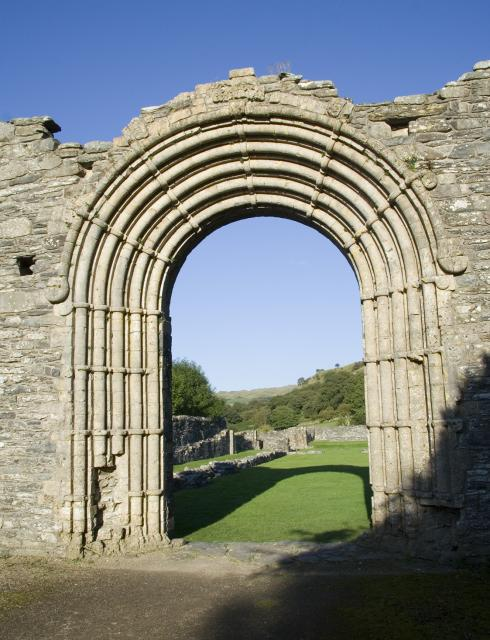 West door of Strata Florida Abbey